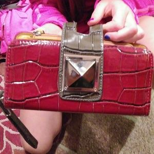 Red Wallet/Clutch from Buckle RETRO Style